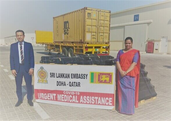 Sri Lankan Embassy in Doha donates 85 oxygen cylinders to health sector