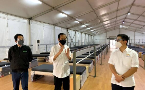 Indonesian 'Oxygen House' health facility supports Covid-19 patients